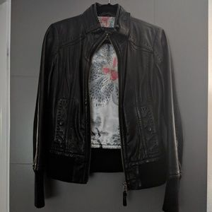 Mackage Aritzia Elie Leather Jacket Elena Gilbert